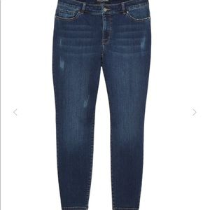 Women's skinny jeans with rips